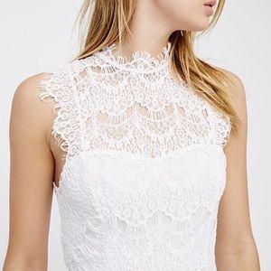 Free People Daydream Lace Slip Dress
